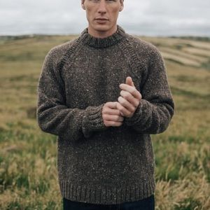 Finisterre Sweater, Bundoran (style) in Tobacco